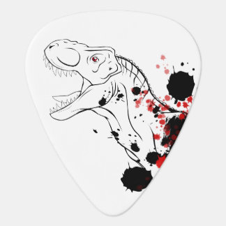T-Rex (Black And Red) Guitar Pick