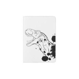 T-Rex (Black and White) Passport Holder