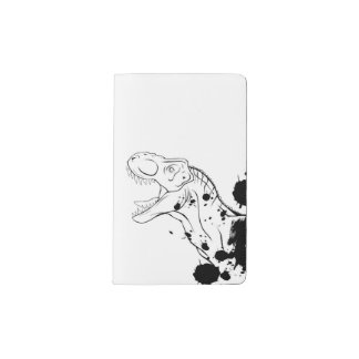 T-Rex (Black and White Pocket Moleskine Notebook