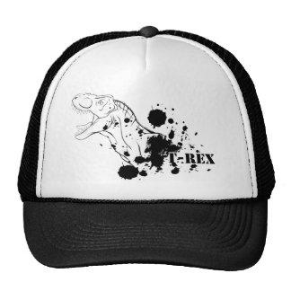 T-Rex (blanco y negro) Gorro De Camionero