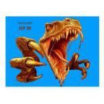 T Rex_blue screen.jpg Postcard