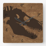 T-rex Bones Browns Clocks