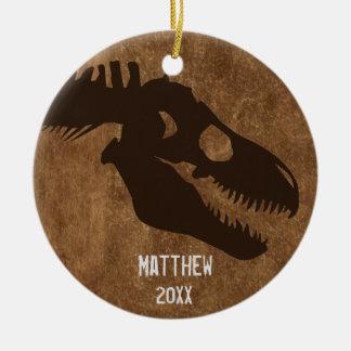 T-Rex Bones Personalized Ornament