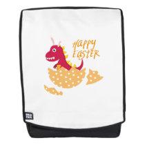 T-Rex Bunny Easter Egg Funny Gift for Easter Kids Backpack