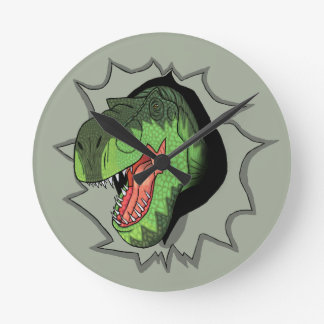 T-Rex busting out of Clock
