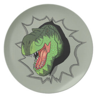 T-Rex busting out of Dinner Plate
