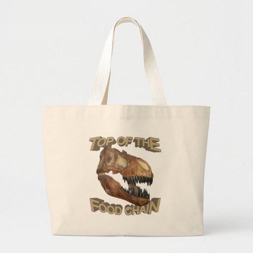 T-rex/cadena alimentaria bolsas de mano
