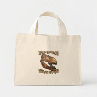 T-rex/cadena alimentaria bolsa de mano