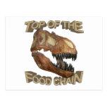 T-rex/cadena alimentaria postales