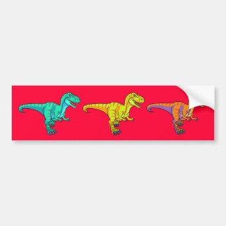 T-Rex cartoon Bumper Stickers