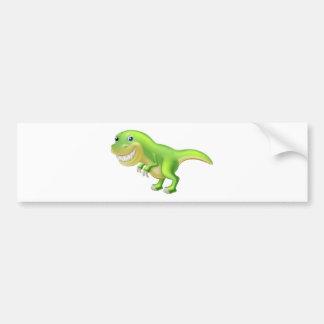 T Rex Cartoon Dinosaur Bumper Stickers
