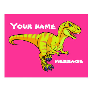 T-Rex cartoon Postcard