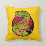 T-Rex cartoon Throw Pillow