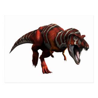 T-rex Charge Postcard