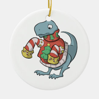 T. Rex Christmas Sweater Ornament