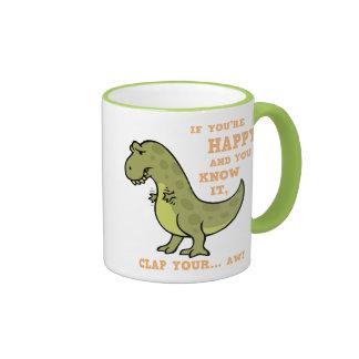 T-Rex Clap II Ringer Coffee Mug