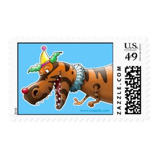 T Rex Clown Stamp