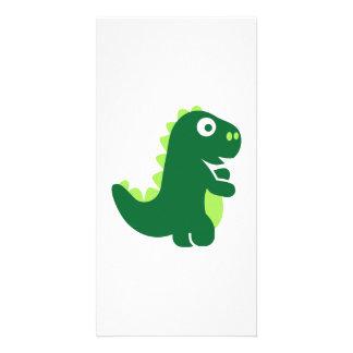 T-Rex cómico Tarjetas Fotográficas