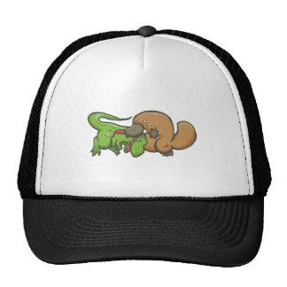 T-rex contra Platypus Gorros Bordados