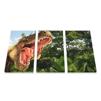 T Rex Dinosaur Art Wall Canvas