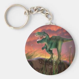 T-Rex Dinosaur Basic Round Button Keychain