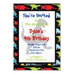 "T Rex Dinosaur Birthday Party Invitations 3.5"" X 5"" Invitation Card"