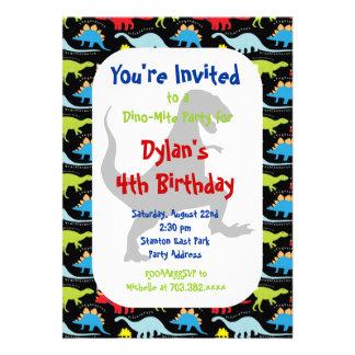 T Rex Dinosaur Birthday Party Invitations