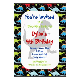 T Rex Dinosaur Birthday Party Invitations 5