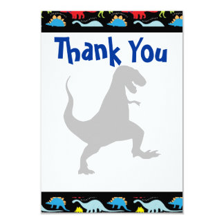 T Rex Dinosaur Birthday Party Thank You Cards