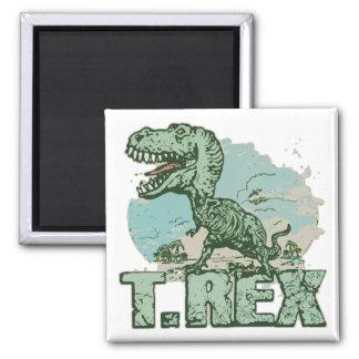 T. Rex Dinosaur by Mudge Studios Magnet