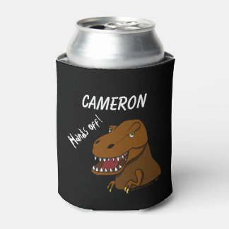 T-rex Dinosaur Can Cooler Personalized Name Kids
