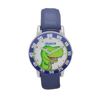 T-rex dinosaur cartoon kids wrist watches
