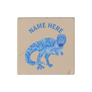 T-Rex Dinosaur Colorful Prehistoric Animal Custom Stone Magnet