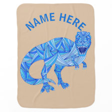 T-Rex Dinosaur Colorful Prehistoric Animal Swaddle Blankets
