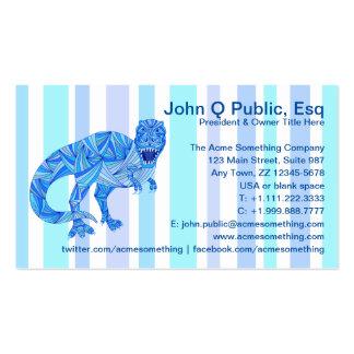 T-Rex Dinosaur Colorful Prehistoric Stripes Business Card