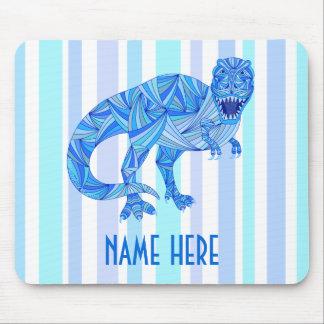 T-Rex Dinosaur Colorful Prehistoric Stripes Mouse Pad