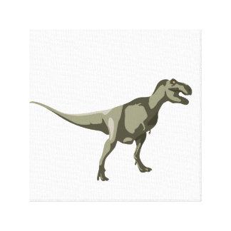 T-rex Dinosaur, Dino Design Stretched Canvas Print
