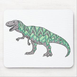 T-Rex Dinosaur Doodle Illustrated Art Mouse Pad
