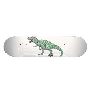T-Rex Dinosaur Doodle Illustrated Art Skateboard Deck