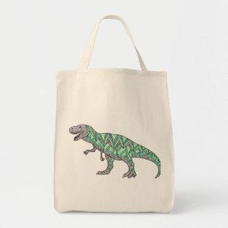 T-Rex Dinosaur Doodle Illustrated Art Tote Bag