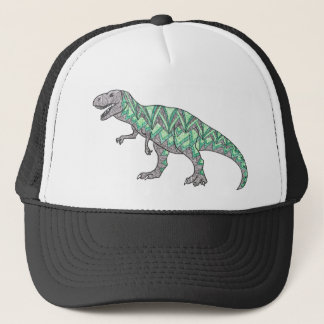 T-Rex Dinosaur Doodle Illustrated Art Trucker Hat
