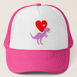 T-Rex Dinosaur Love Cap