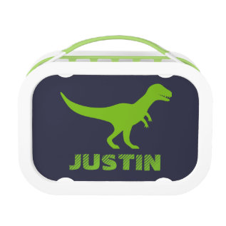 T Rex Dinosaur Lunch Box Personalized For Boys at Zazzle