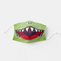 T-rex Dinosaur Mouth Kids Cartoon Green Adult Cloth Face Mask