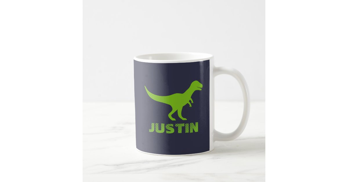 T Rex Dinosaur Mug Personalized With