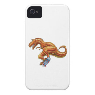 T.rex dinosaur on a skateboard iPhone 4 Case-Mate cases