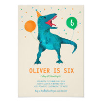T-Rex Dinosaur Party Animal Birthday Party Invitation