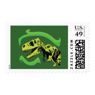 T-Rex Dinosaur Skeleton Postage