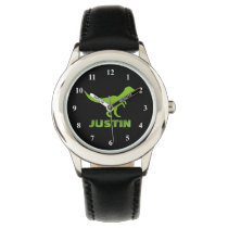 T rex dinosaur watch personalized with kids name