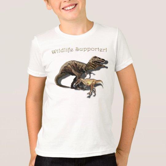 T-REX DINOSAUR Wildlife Supporter Tee Rex Shirt